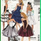 McCall's 4778 Sewing Pattern Sz 10 Misses' Chic Prom Party Dress Gown Sweetheart Neck Full Skirt 90s