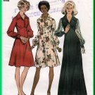 Simplicity 5968 Vintage Sewing Pattern Sz 16 Misses' Elegant Dress Empire Bodice Collar Long Sleeves