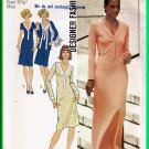 Simplicity 7131 Vintage Sewing Pattern Sz 10 Misses' Knit Dress Long Short Cardigan Jacket 70s Retro