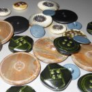Elegant Formal Suit Jacket Coat Buttons Lot Various Motif Sizes Leather Look Iridescent Plastic Horn