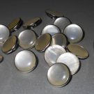 Small Classic Pearly White Silver Tone Shank Buttons Lot for Sweaters Blouses Tops Jackets Sew-on