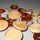 Wood Faux Tortoise Shell Mother of Pearl Buttons Tiny Sweater Blouse Jacket Coat for Crafts Sewing