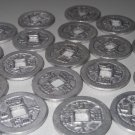 Gunmetal Silver Tone Metal Asian Chinese Coins Lot for Crafts Hobbies Clothing Accessories Sewing