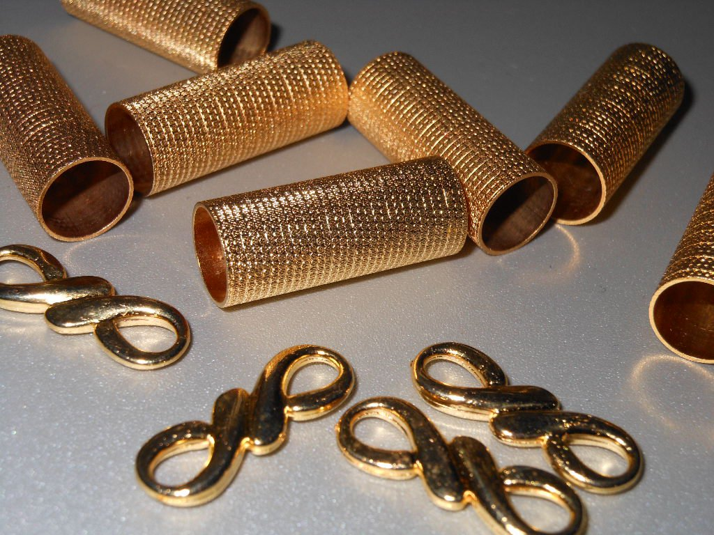 Gold Tone Findings Lot for Home Dec Crafts Hobbies Sewing Accessories Clothing Purses Scrapbooking
