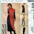 McCall's 9076 Sewing Pattern Sz 12-16 Misses' Trendy Dress Top Tunic Pants Asymmetrical Cowl Neck