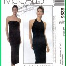 McCall's 9295 CUT Sewing Pattern Sz 4 Misses' Halter Knit Sheath Gown Fitted Long Dress Laundry
