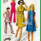 Simplicity 8278 CUT Vintage Sewing Pattern Sz 8 Misses' Belted Dress Tunic Pants Retro 60s 70s Chic