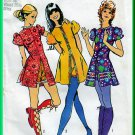 Simplicity 9544 CUT Vintage Sewing Pattern Sz 12 Misses' Mini Dress Shorts Cute Funky Hippy Chic 70s