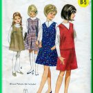 Butterick 4072 CUT Vintage Sewing Pattern Sz 12 Girls' Jumper Dress Easy Neckline Front Pleat Seams