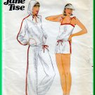 Butterick 5990 CUT Vintage Sewing Pattern Sz 8 Misses' Jogging Workout Wear Sweatshirt Top Knit Set