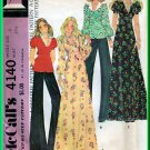 McCall's 4140 CUT Vintage Sewing Pattern Sz 8 Misses' Cute Empire Bodice Tops Dress Retro 70s Chic