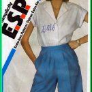 Simplicity 6057 Vintage Sewing Pattern Sz 10-14 Misses' Tailored Dressy Shorts Knee Length Shirt Set