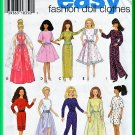 Simplicity 9838 Sewing Pattern 11.5 Inch Doll Clothes 29cm Evening Dress Jumpsuit Party Dress Gowns