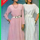 Butterick 5362 Vintage Sewing Pattern Sz 14-18 Pullover 80s Dress Elastic Waist Short Long Sleeves