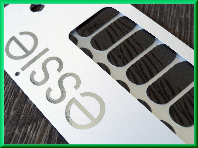 Essie Nail Polish Stickers A to Zebra Brown and Black Zebra Animal Print Fashion Pattern UV Cured