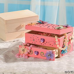 Unfinished Wood Jewelry Boxes