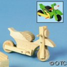 Wood Motorcycle 6ct