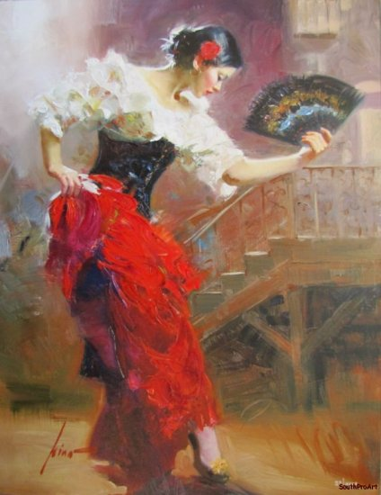 DAENI PINO SPANISH DANCER Royo EMBELLISH CANVAS tango