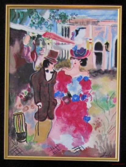 ZULE NEW ROMANCE Israel Tarkay wedding framed canvas HS