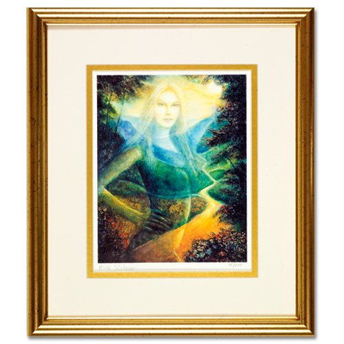 RINA SUTZKEVER~LIKE A BIRD~Jewish nude  framed chagall