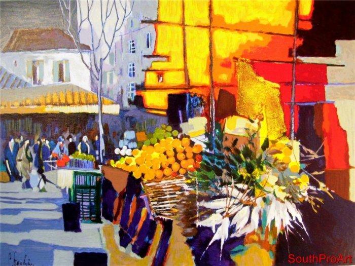 Claude Fauchere~MARCHE~Flowers HS# French market fruit