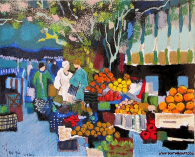 Claude Fauchere MARKET SCENE France Paris LE mouly HS&#
