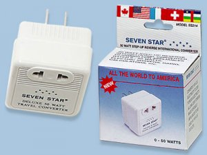50W Watts Step Up Voltage Converter - Sevenstar SS214 50 Watt Deluxe