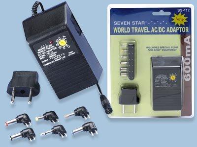Sevenstar World Travel AC To DC Power Adapter 600MA- SS112