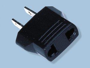 European to North American 2 Flat Blade Plug Adapter- Converts European to USA