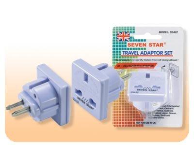 UK To US Adapter Plug SS-422 - Converts English Plug to American Plug
