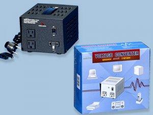 TC-500 500W Watt Step Up Down Voltage Converter with Three Plug-ins