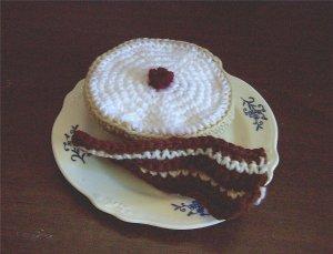 Hand Crocheted Bagel & Bacon Slice