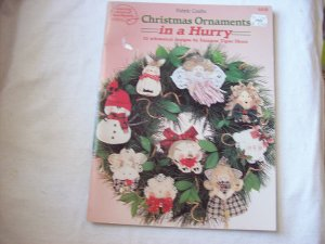 Fabric Crafts Sewing for Christmas Ornaments 22 Designs Dated 1994