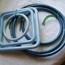 Macrame Hoops & Squares For Purses or Other Projects 2 Sets of 3 Each Wow 6 Pieces