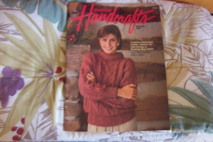 Handcrafts Booklet Cross Stitch, Knit, Crochet, Etc. 1987 Back Issue