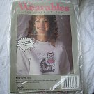 Wearables to Cross Stitch Unopened Kit  Kitty Love