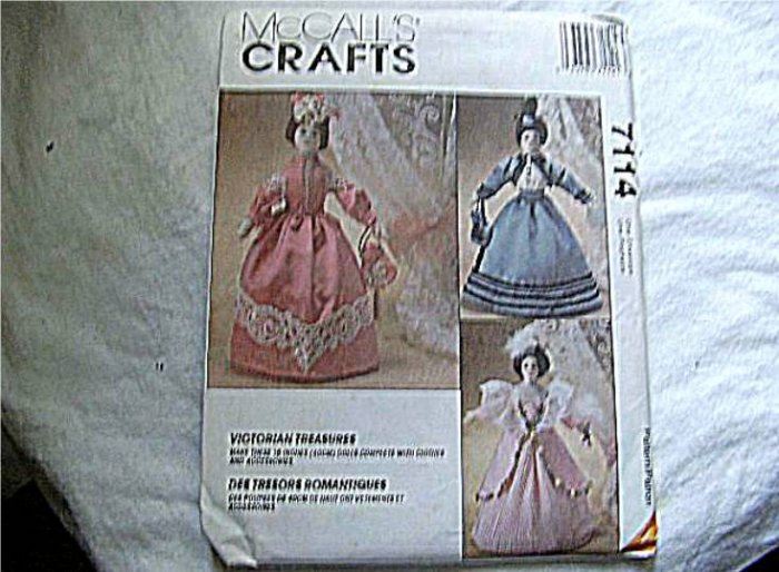 McCall's Crafts Pattern Victorian Treasures 4 Dolls to Make