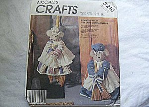 McCall's Crafts Pattern for Country Bears Broom Cover & Door Stopper