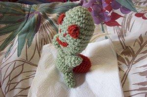 Turtle Pin Cushion or Computer Buddy Hand Crochet