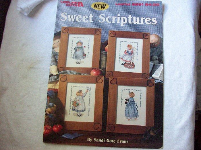 Leisure Arts Leaflet #2291 Sweet Scriptures Cross Stitch