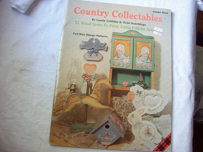 Country Collectables 21 Wood Items to Paint Using Folk Art Acrylics