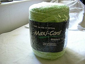 Macrame Cord Green 100yds 6mm New in Package