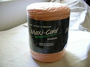 Peach Macrame Cord Unopened New Package 100yds 6mm