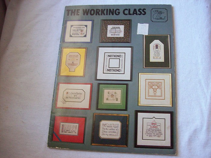 Counted Cross Stitch 18 Page Booklet The Working Class Dated 1980