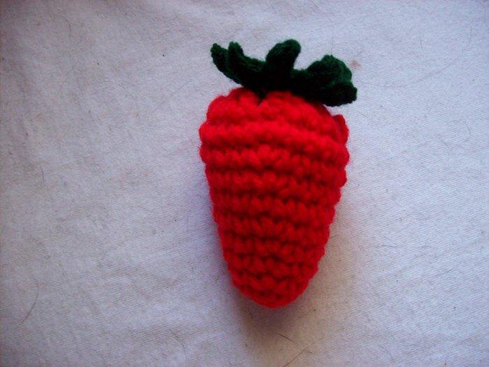 Hand Crocheted Strawberry Pin Cushion