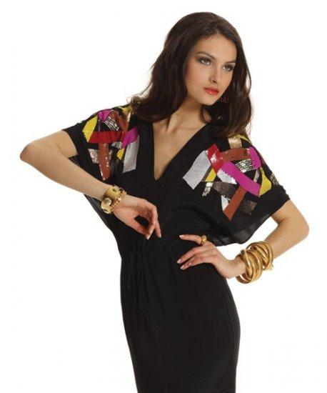 Yoanna Baraschi Dress - All Night Long Black/Multi