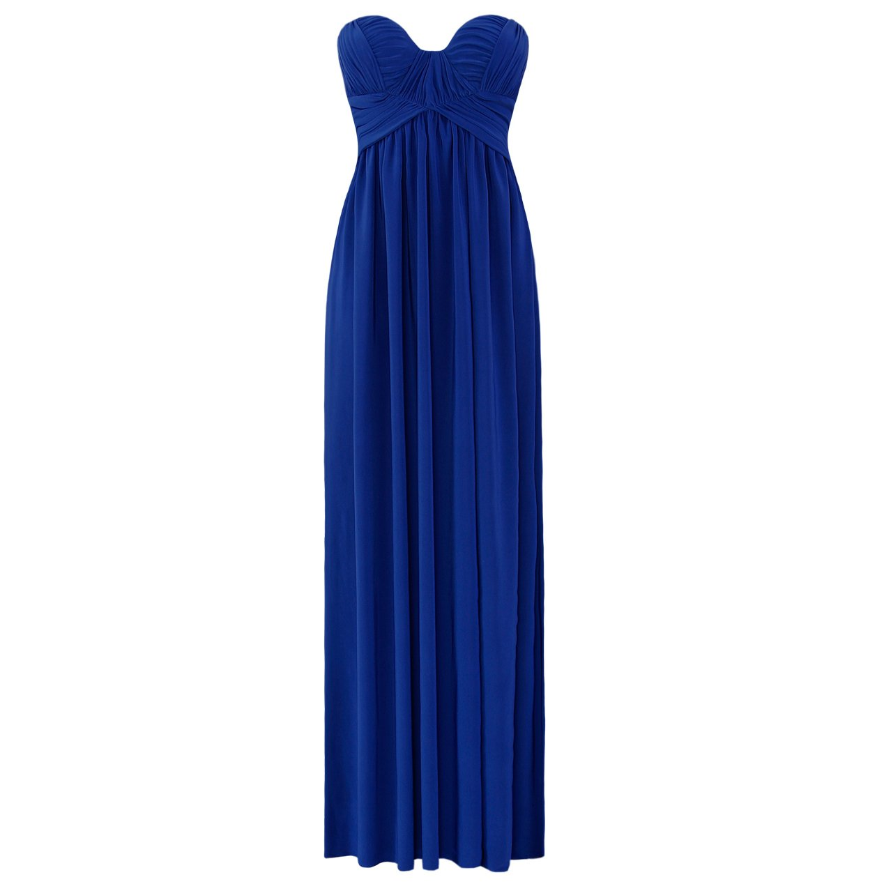 JESSICA ALBA BLUE LADIES STRAPLESS LONG SUMMER EVENING PARTY PROM GOWN MAXI DRESS UK 8-10, US 4-6