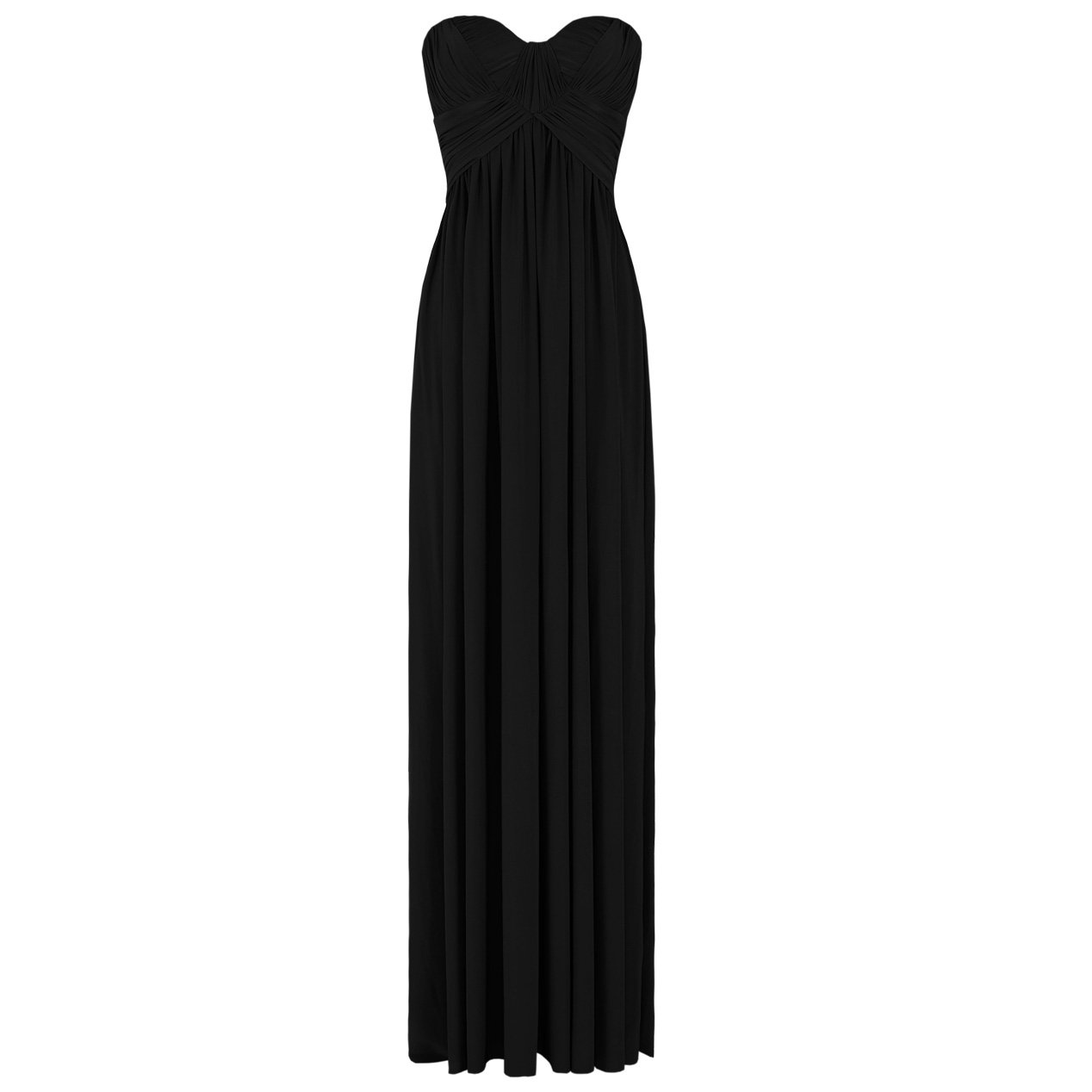 JESSICA ALBA BLACK LADIES STRAPLESS LONG SUMMER EVENING PARTY PROM GOWN MAXI DRESS UK 8-10, US 4-6