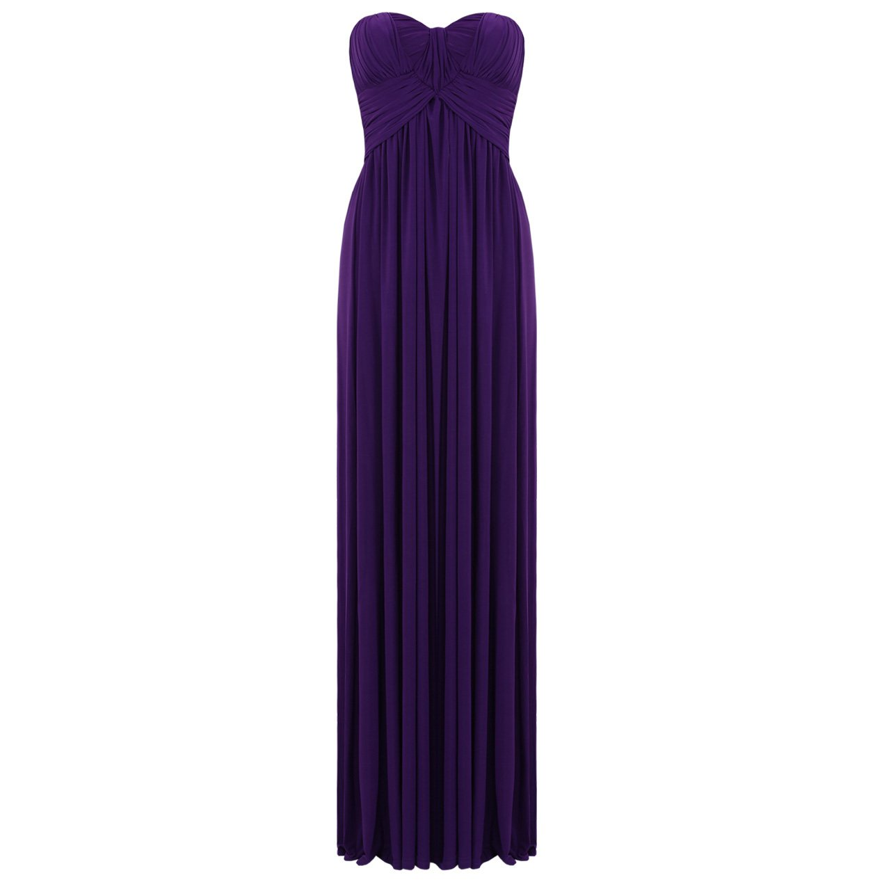JESSICA ALBA PURPLE LADIES STRAPLESS LONG SUMMER EVENING PARTY PROM GOWN MAXI DRESS UK 8-10, US 4-6