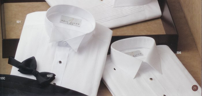 Men's Wing Tip Collar Shirt (White)